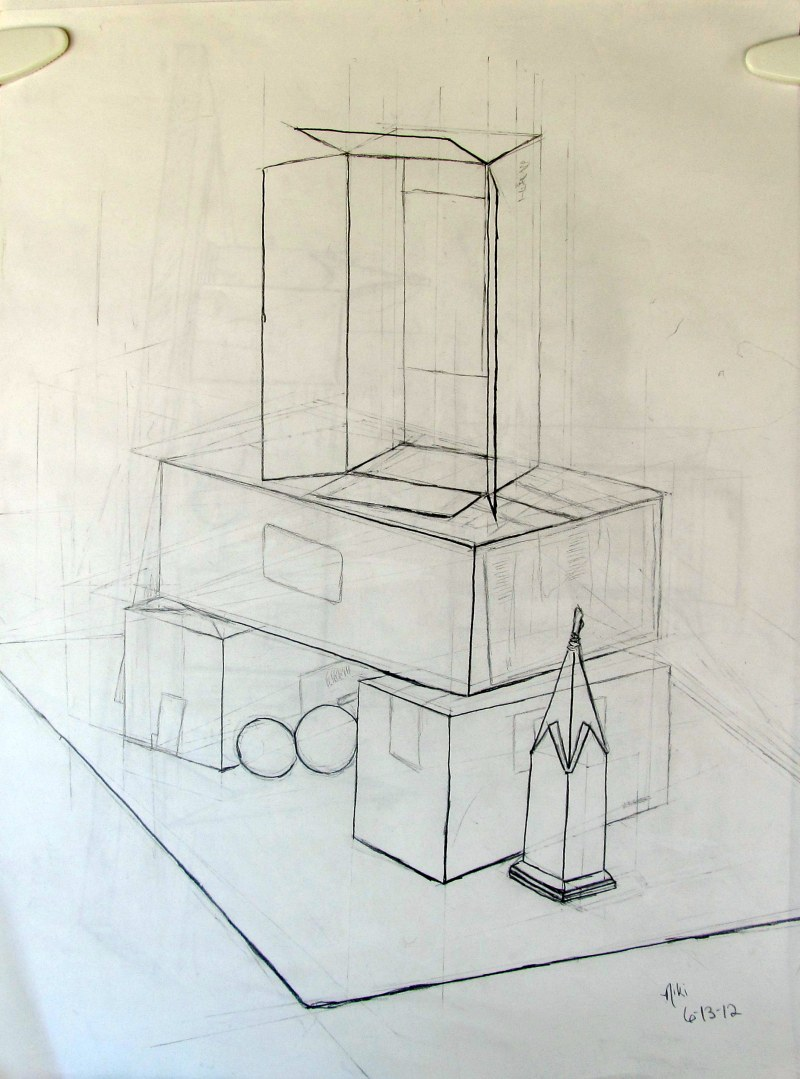 Contour Line Drawing Of Still Life : Contour line and perspective still life niki s niche